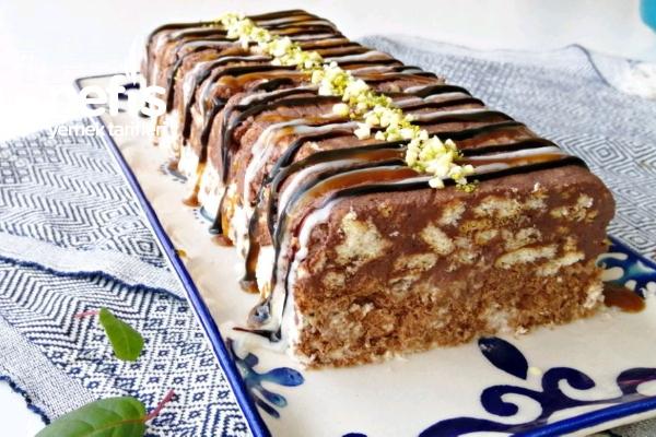 Krem Şantiyle Basit Mozaik Pasta (Videolu) Tarifi