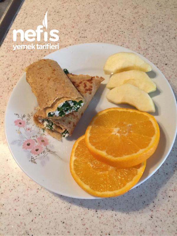 Diyet Kahvaltı: Fit Krep