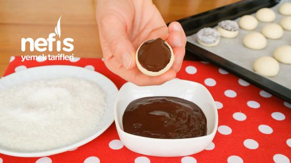 Pratik Çikolatalı Hindistan Cevizli Kurabiye (videolu)