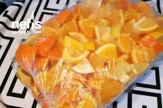 Buzlukta 1 Limon 2 Portakal (Yazın limonata yapmak İçin) Tarifi