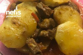 Fırında Mantarlı Etli Patates Dizmesi Tarifi