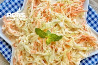 Coleslaw (Ünlü Beyaz Lahana Salatası) Tarifi