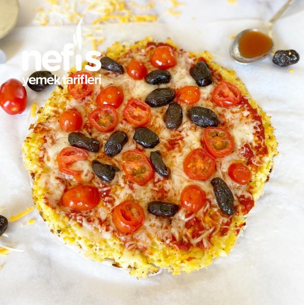 Hafif Mi Hafif Karnabahar Tabanlı Pizza