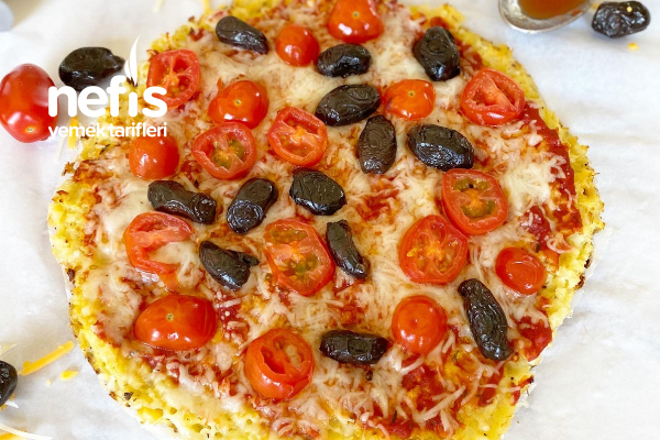 Hafif Mi Hafif Karnabahar Tabanlı Pizza Tarifi