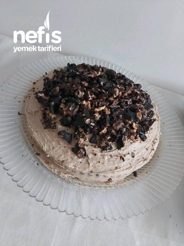 Nescafeli Krokanlı Harika Kek