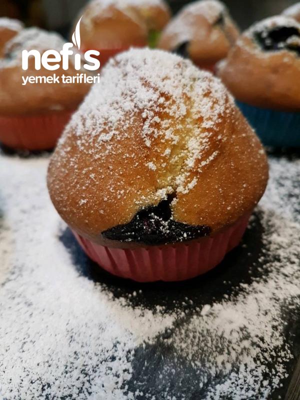 Yumusacik Yaban Mersinli Muffin
