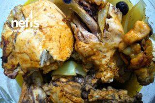 Fırında Zeytinli Tavuk Tarifi