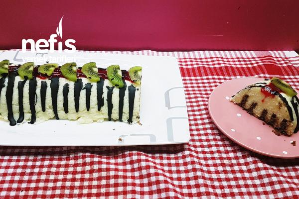 İrmikli Bisküvili Kolay Ve Şık Pasta Tarifi (Videolu)