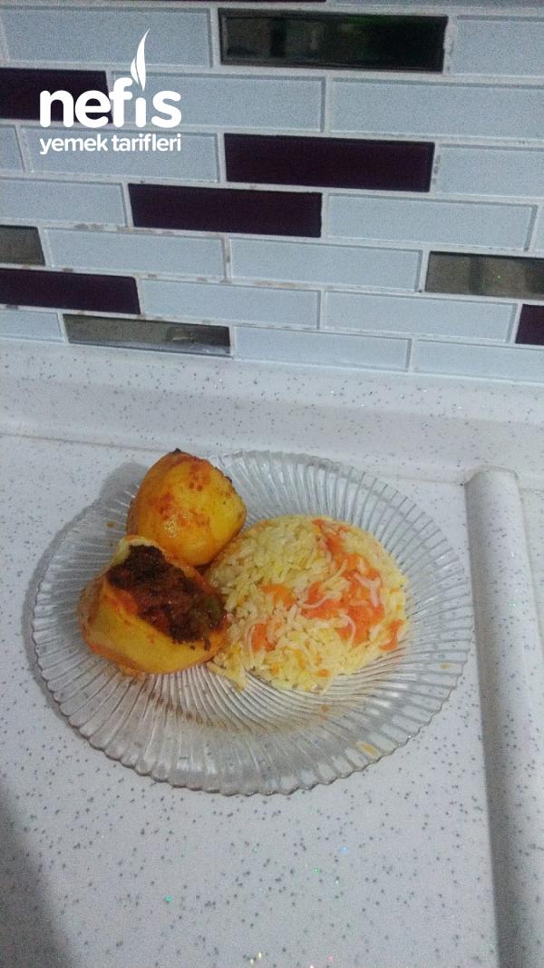 patates çanağında ev yemeği