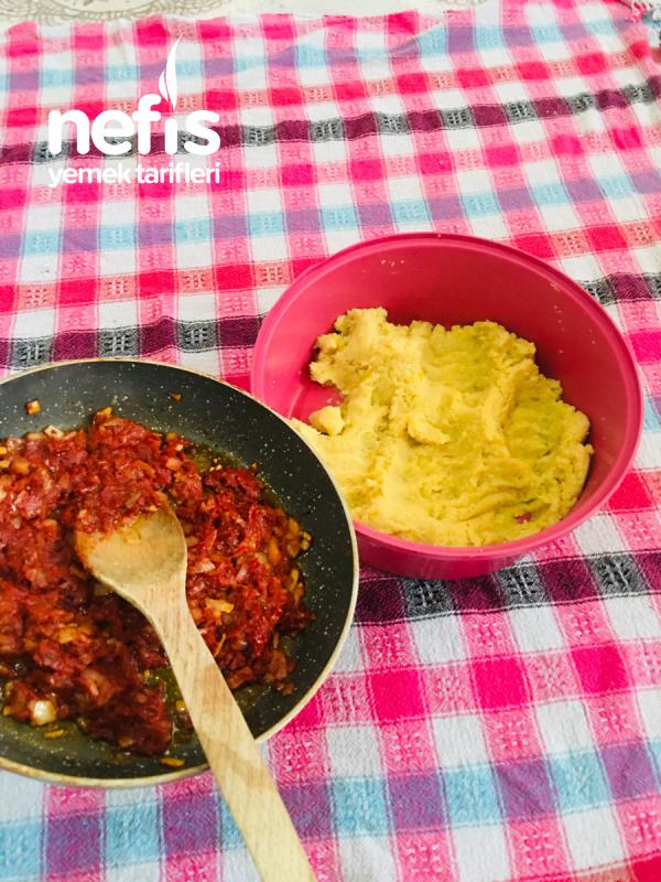 Haşlanmış Patates İle Bulgur Köftesi(mercimek Köftesi Tadında)