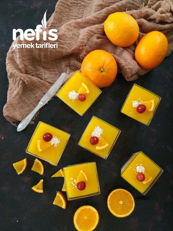 Portakal Soslu Haşhaşlı Muhallebi