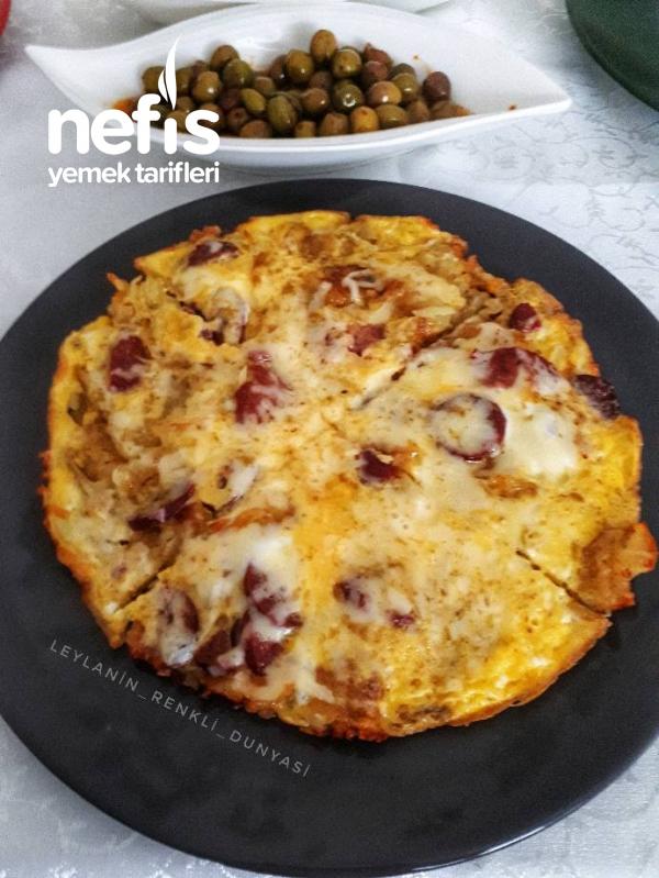 Patatesli Pizza Omlet