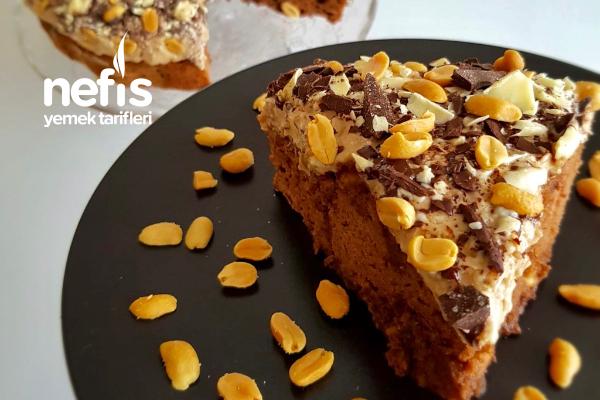 Yer Fıstıklı Çikolatalı Kahve Kremalı Kek Tarifi
