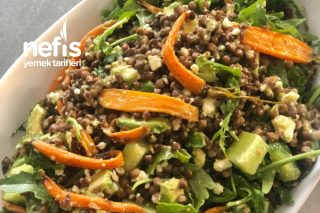 Havuçlu Rokalı Mercimek Salatası Tarifi
