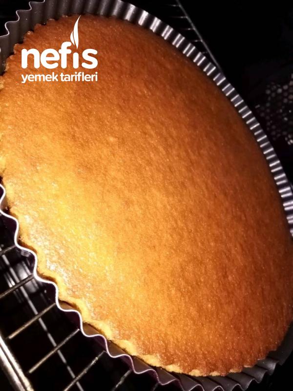 Tart Kalıbında Muhallebili Portakallı Revani