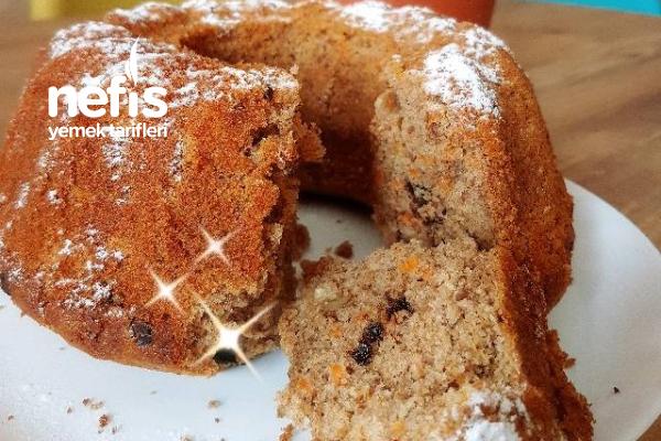 Havuçlu Tarçınlı Üzümlü Cevizli Az Kalorili Kek Tarifi