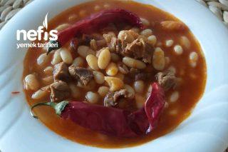 Etli Kuru Fasulye Tarifi /Fasulyenin Kabuğu Soyulmadan Nasıl Pişirilir ( Videolu )