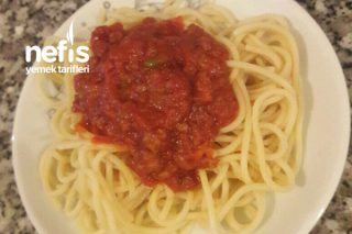 Kıyma Soslu Spagetti Tarifi