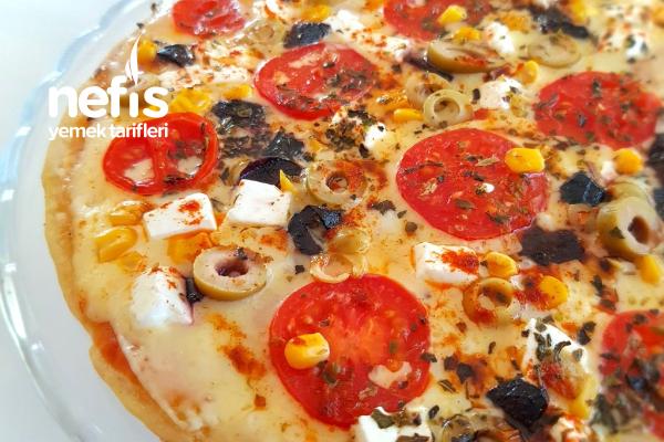 Tek Kişilik Tavada Pizza (Muhteşem Kıtırlık) Tarifi