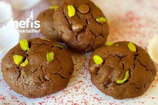 İçi Yumuşacık Antep Fıstıklı Çikolatalı Kurabiye Tarifi