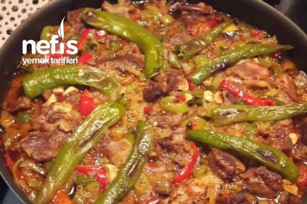 Kızartmadan Etli Patlıcan Kebabı Tarifi