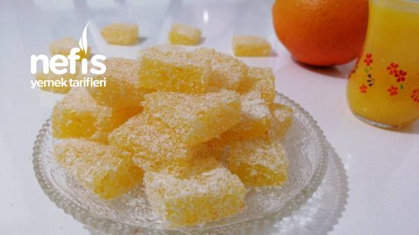 Portakallı Lokum Orjinal lokuma En Yakın Tarif
