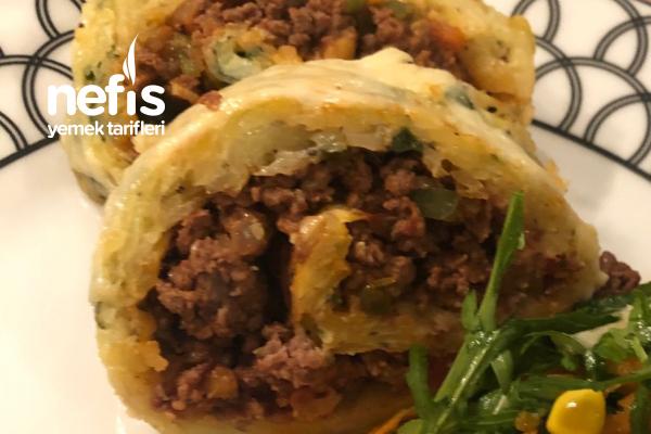 Patatesli Kıymalı Börek Tadında Rulo Tarifi