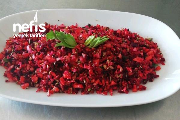 Kış Sebzeli Kaşık Salatası Tarifi