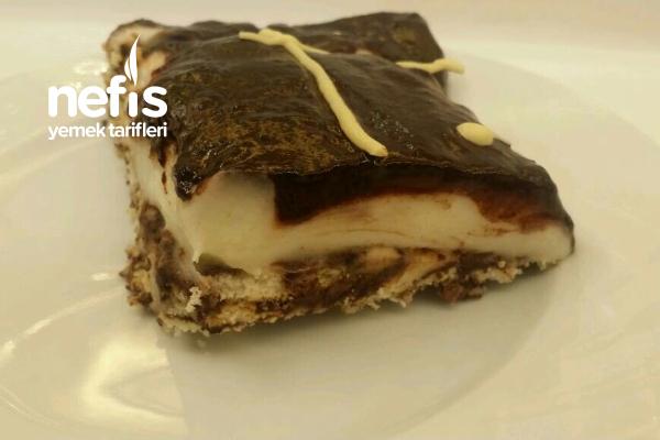 Muhallebili Çikolatalı Mozaik Pasta Tarifi