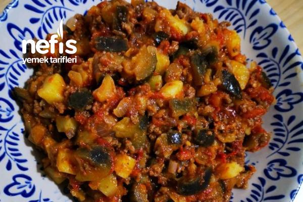 Az Yağlı Patatesli Musakka Tarifi