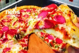 Kenar Dolgulu Pizza Tarifi (Şiddetle Tavsiye Ederim)