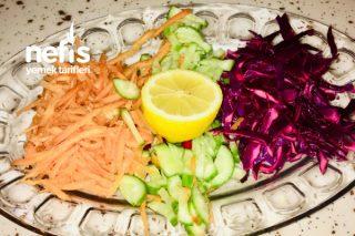 Üç Renk Salata (Evdeki Malzemelerle) Tarifi