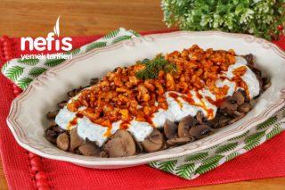 Oldukça Lezzetli Yoğurtlu Cevizli Mantar Salatası (videolu) Tarifi