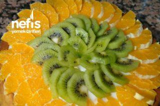 Meyveli Tart Kek (Portakal Ve Kivi) Tarifi