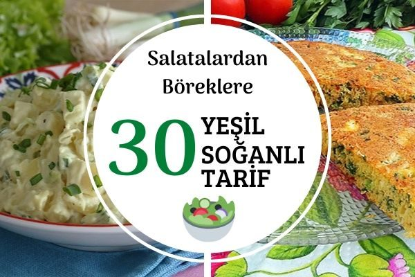 Yeşil Soğanlı 30 Değişik Tarif Tarifi