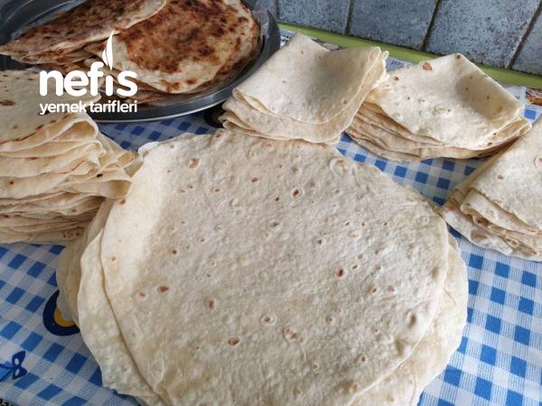 Evde Yumusacik Yufka Ekmek Dürümlük Böreklik Ne İstersek Yapilabilir