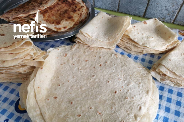 Evde Yumuşacık Yufka Ekmek Dürümlük Böreklik Ne İstersek Yapılabilir Tarifi