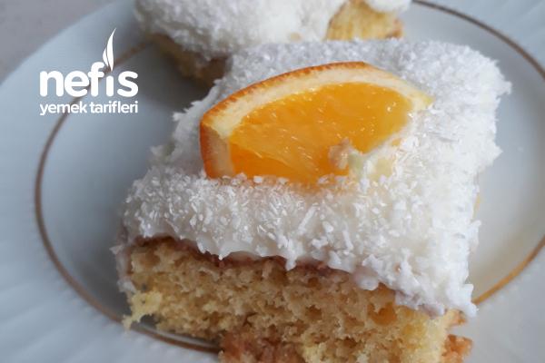 Portakallı Gelin Pastası (Büyük Boy Borcama Göre) Tarifi
