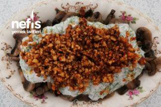 Yoğurtlu Cevizli Mantar Salatası Tarifi