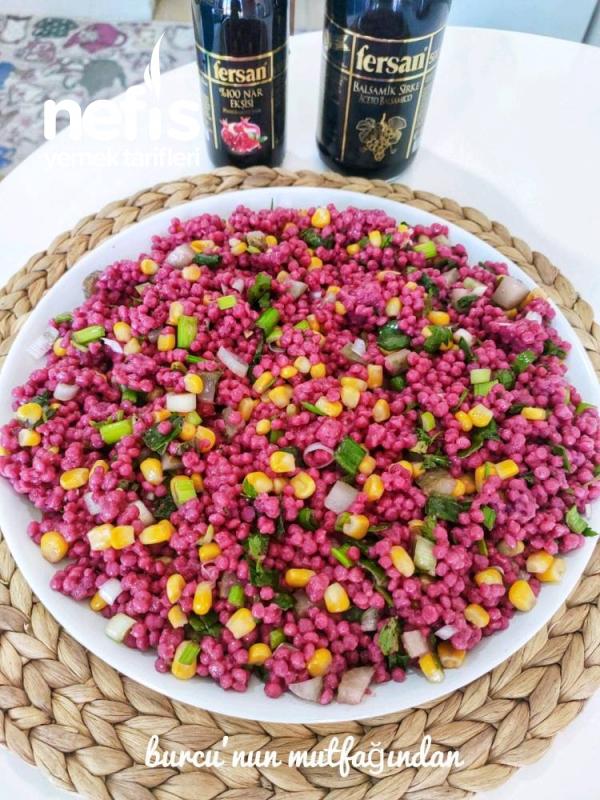 Renkli sirkeli kuskus Salatası ( çok sağlıklı)