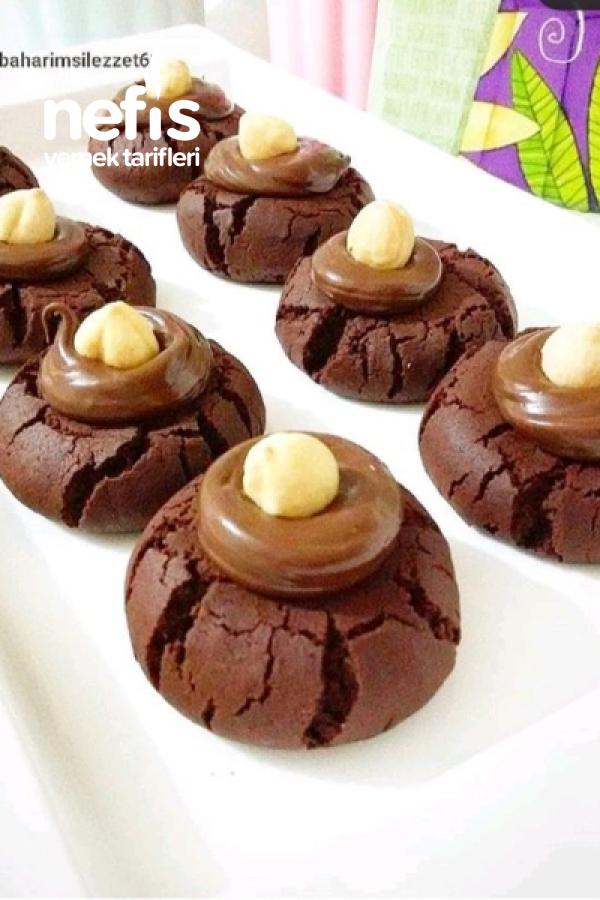 Çikolatalı Çatlak Kurabiye aşırı Lezzetli