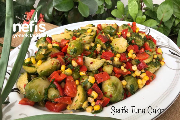 Köz Biberli Brüksel Lahanası Salatası (Videolu)