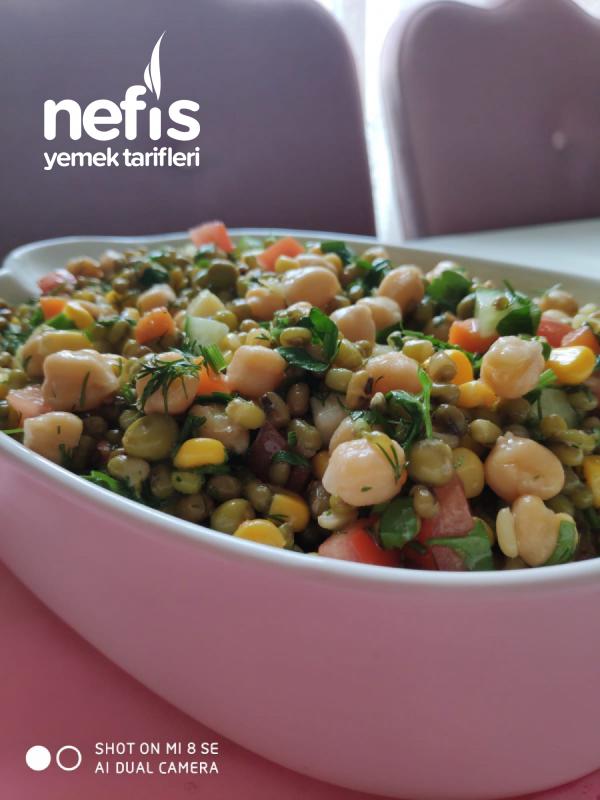 Maş Fasulyeli Nohutlu Salata