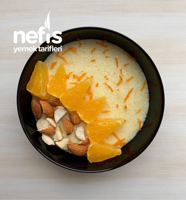 Portakal Aromalı Şekersiz İrmik Tatlısı