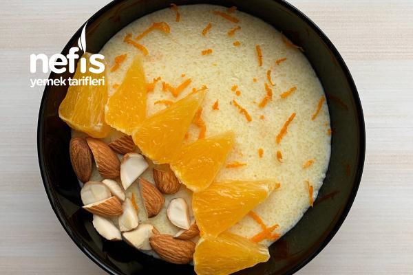 Portakal Aromalı Şekersiz İrmik Tatlısı Tarifi