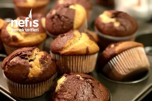 Kinder Çikolatalı Muffin Topkek Cupcake Tarifi