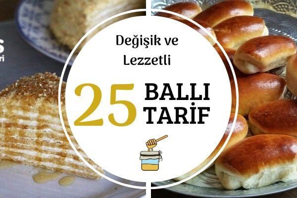 Ballı En Güzel 25 Değişik Tarif Tarifi