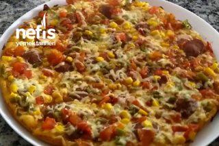 Tavada Pratik Pizza Yapımı Tarifi