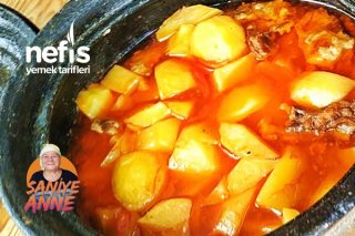 Güveçte Etli Patates Tarifi (Videolu)