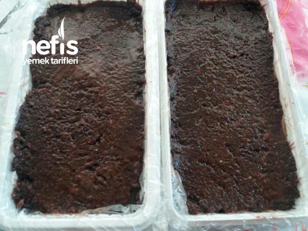 Artan Bisküvilerle Çikolatalı Pasta ( Dondurucuda Her An Hazır)